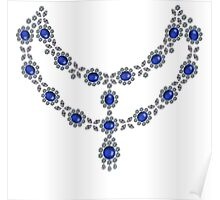 Two strand sapphire necklace Poster