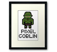 Pixel Goblin Framed Print