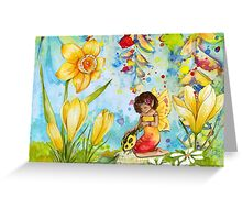 Fairy and The Ladybug  Greeting Card