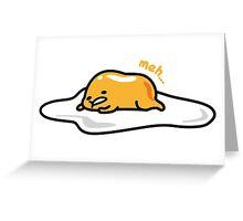 Gudetama the lazy egg laying Greeting Card