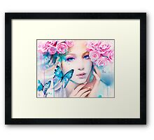 Pink Constellation Framed Print