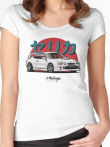 Toyota Celica GT-Four (white) Women's Fitted Scoop T-Shirt