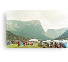 Mountain festival Canvas Print