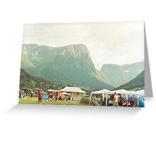 Mountain festival Greeting Card