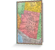 1939 Arizona map birthday greeting card for sister - friend gift idea - Christmas postcard Greeting Card