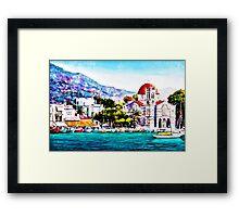 Tranquil harbour Framed Print