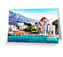 Tranquil harbour Greeting Card