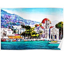 Tranquil harbour Poster