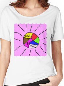Love & Peace Women's Relaxed Fit T-Shirt