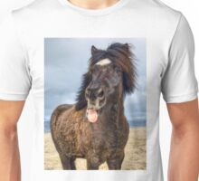 Icelandic horse showing his respect Unisex T-Shirt