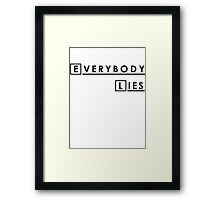 House MD Everybody Lies Hugh Laurie Framed Print