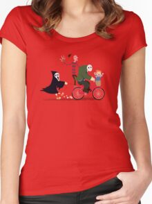 Horror Night Off Women's Fitted Scoop T-Shirt