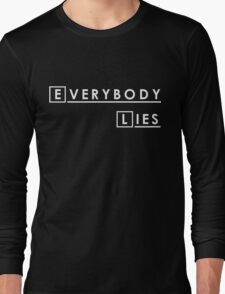 House MD Everybody Lies Hugh Laurie Long Sleeve T-Shirt