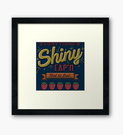 Kaylee's Embroidery Framed Print