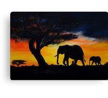 Call of the wild acrylic painting Canvas Print