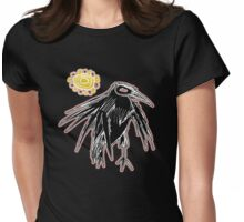 sunrise crow Womens Fitted T-Shirt