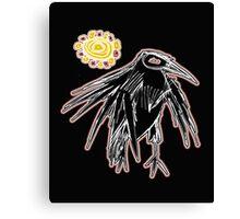sunrise crow Canvas Print