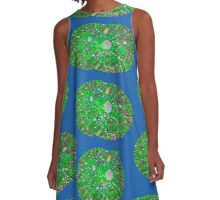 Water on lilly leaf A-Line Dress