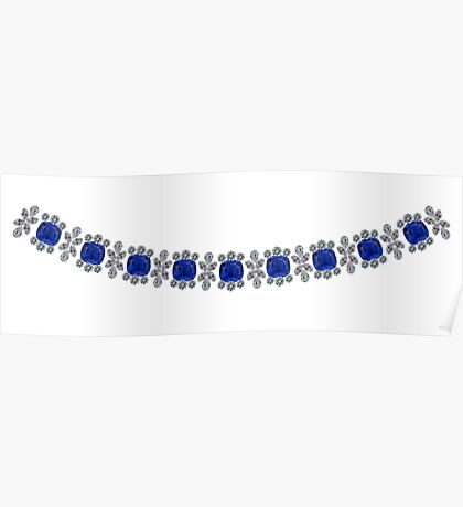 Strong Sapphire Necklace Poster