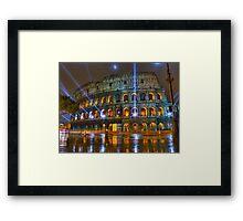 Coliseum at Night Framed Print