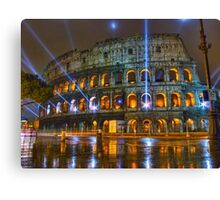 Coliseum at Night Canvas Print