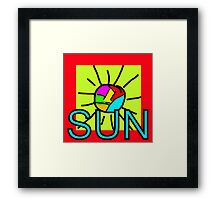 The sun shines for you Framed Print