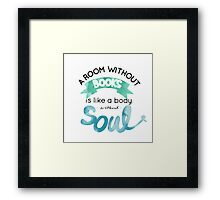 a room without a book Framed Print