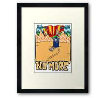 Doctor Who No More Framed Print