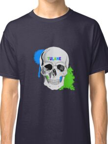 TULANE UNIVERSITY SKULL STICKER AND LEGGINGS Classic T-Shirt