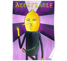 Handsome Lemongrab Poster
