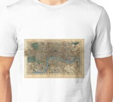Vintage Map of London England (1860) Unisex T-Shirt