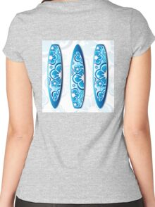 Surfboard, Surf, Surfing Women's Fitted Scoop T-Shirt