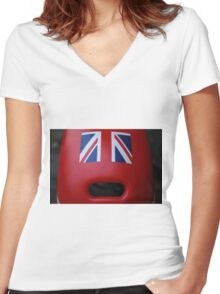 The face of Britain Women's Fitted V-Neck T-Shirt