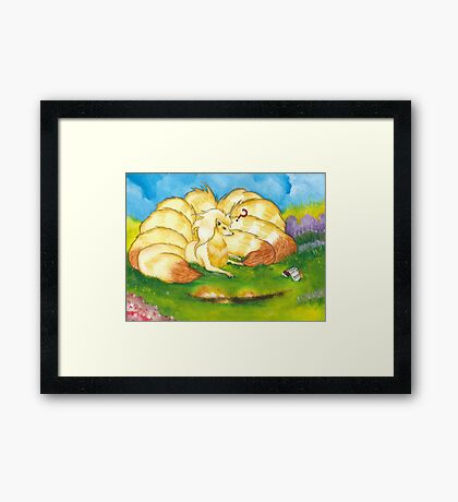 To Tame A Ninetails Framed Print