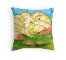 To Tame A Ninetails Throw Pillow