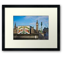 London Souvenirs and Big Ben Framed Print