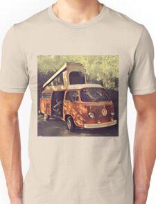 Orange Vintage VW Westfalia Camping Unisex T-Shirt