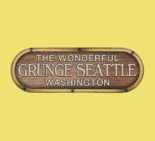 Grunge Seattle Washington Baby Tee