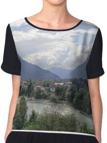Austrian Landscape Chiffon Top