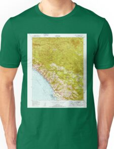 USGS TOPO Map California CA Burro Mountain 288695 1949 24000 geo Unisex T-Shirt