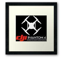DJI Phantom 4 Drone black Framed Print