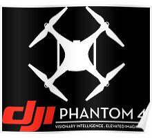 DJI Phantom 4 Drone black Poster