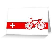 Bike Stripes Switzerland Greeting Card