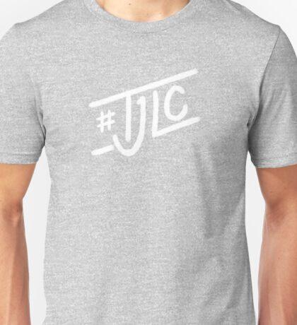 #TJLC text, white Unisex T-Shirt