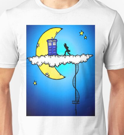 Tardis in the Clouds Unisex T-Shirt