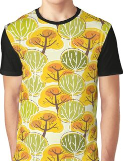 Golden Autumn Trees  Graphic T-Shirt