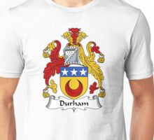 Durham Coat of Arms / Durham Family Crest Unisex T-Shirt