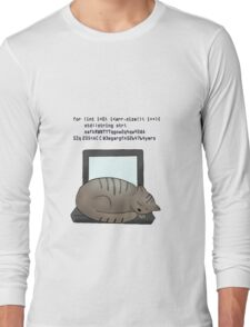 Coding Cat Long Sleeve T-Shirt