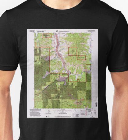 USGS TOPO Map California CA Callahan 100609 2001 24000 geo Unisex T-Shirt