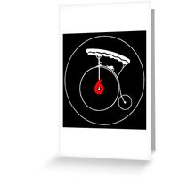 The Prisoner number six bicycle Greeting Card